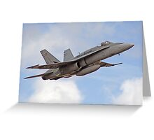 F/A-18 Hornet, performing flyby Greeting Card