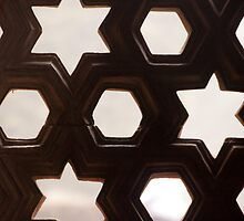 Cross section of a brick wall with holes of different shapes by ashishagarwal74