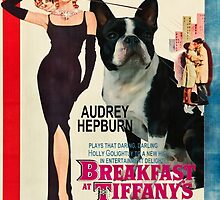 Boston Terrier Art - Breakfast at Tiffany Movie Poster by NobilityDogs