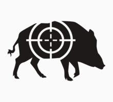 Wild boar hunter crosshairs by Designzz