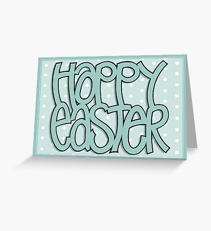Happy Easter green Greeting Card