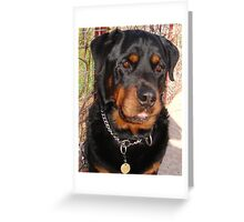 Troy: Father of Nine (Rottweiler) Greeting Card