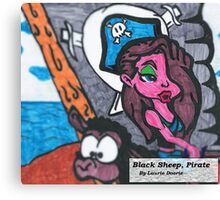 Pirate, Black Sheep Canvas Print