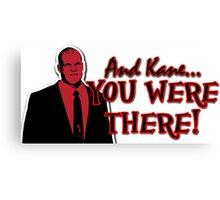 Kane Was At Wrestlemania Canvas Print