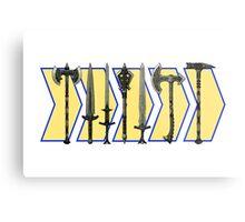 Skyrim - Steel Weapons Metal Print