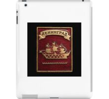 Soviet badge with the inscription Leningrad  iPad Case/Skin