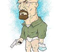 Walt White / Heisenberg - Breaking Bad by Marcus Lane illustration