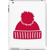 Red bobble hat iPad Case/Skin