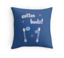 Cotton Buds Throw Pillow