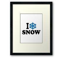 I love snow Framed Print