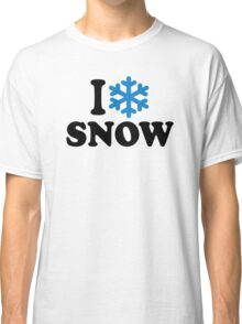 I love snow Classic T-Shirt