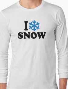 I love snow Long Sleeve T-Shirt