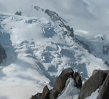 Panorama of Mont Blanc du Tacul, Mont Maudit and Mont Blanc by MSRImaging