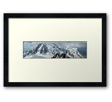 Panorama of Mont Blanc du Tacul, Mont Maudit and Mont Blanc Framed Print