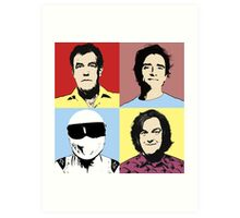 The Top Gear Team - POP Art Art Print