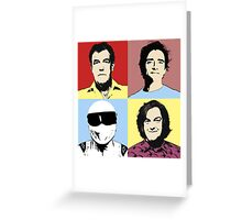 The Top Gear Team - POP Art Greeting Card