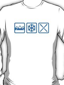 Mountains snow ski T-Shirt