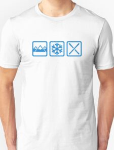 Mountains snow ski Unisex T-Shirt
