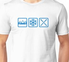 Mountains snow ski Unisex T-Shirt