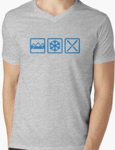 Mountains snow ski Mens V-Neck T-Shirt