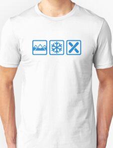 Mountains snow snowboard T-Shirt