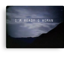 "The X-Files Reboot ""G Woman"" Canvas Print"