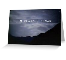 "The X-Files Reboot ""G Woman"" Greeting Card"