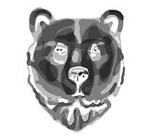Bear (Negative) Photographic Print