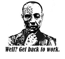 Gus Fring-Get back to work. Photographic Print