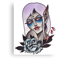 White Walker Fey Vampire  Canvas Print