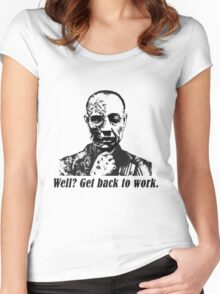 Gus Fring-Get back to work. Women's Fitted Scoop T-Shirt