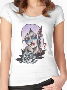 White Walker Fey Vampire  Women's Fitted Scoop T-Shirt
