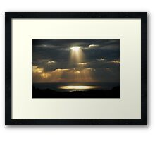 a word from above Framed Print