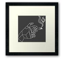 Geometric hand smoke  Framed Print