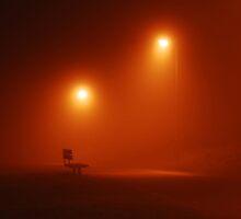 Misty Bench by Nigel Bangert