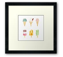 ice cream selection Framed Print