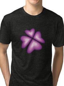 purple heart flower Tri-blend T-Shirt