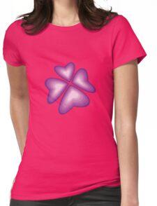 purple heart flower Womens Fitted T-Shirt