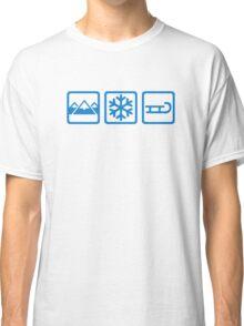 Mountains snow sleigh Classic T-Shirt