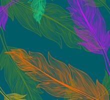 Сolor feathers pattern  Sticker