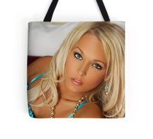 Turquoise Corset Tote Bag