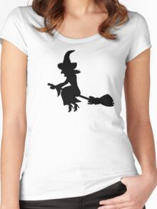 Witch broom Women's Fitted Scoop T-Shirt