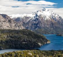 Mountains and lake Nahuel Huapi (Patagonia - Argentina) Sticker