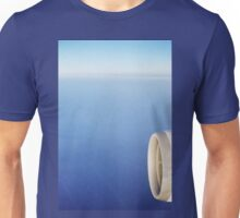 Plane wing in blue sky analogue 35mm film ra-4 darkroom prints Unisex T-Shirt