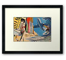 Summer in the city Framed Print