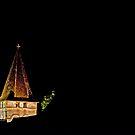 Steeple in Velvety Night by A.M. Ruttle