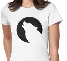 Wolf moon Womens Fitted T-Shirt