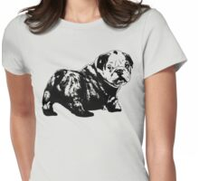 Bulldog Stencil Womens Fitted T-Shirt
