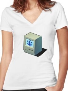 Mac Daddy -  creativebloke.com - t shirt Women's Fitted V-Neck T-Shirt