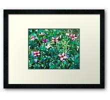 Watercolor Wildflowers Framed Print